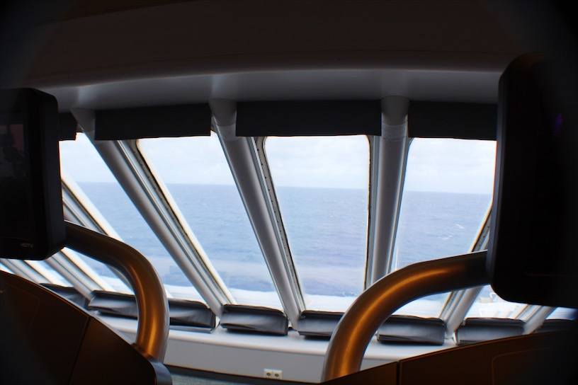 View from the treadmill on the Carnival Ecstasy