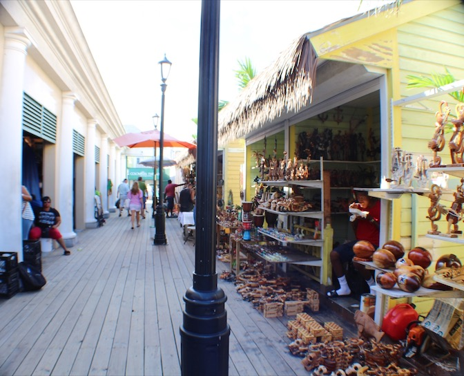 Woodcarvers Row at the Straw Market in Nassau, Bahamas