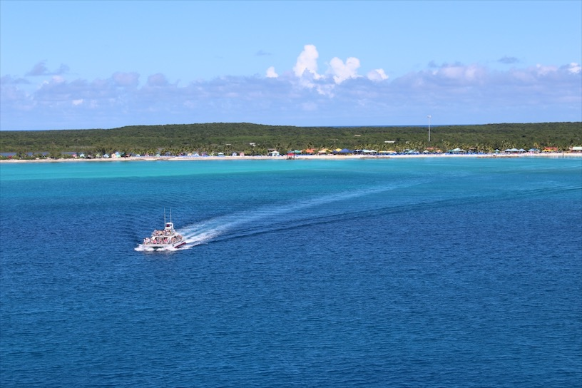 A view of Princess Cays from the Forward Deck.