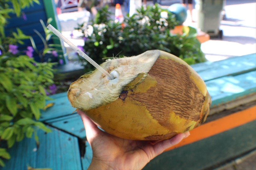 Chilled Coconut in Nassau, Bahamas