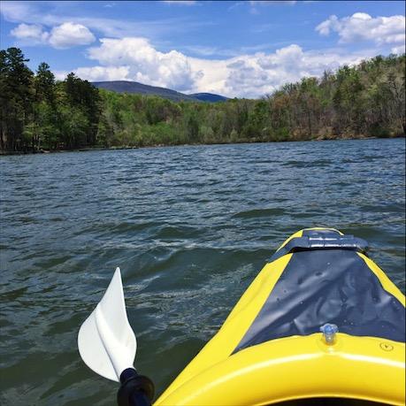 Kayaking at Lake Adger, North Carolina