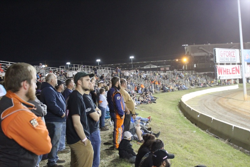 Pit side Grandstands at The Dirt Track at Charlotte.