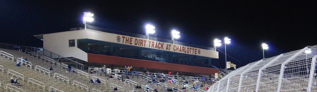 View of the Grandstands at The Dirt Track at Charlotte.