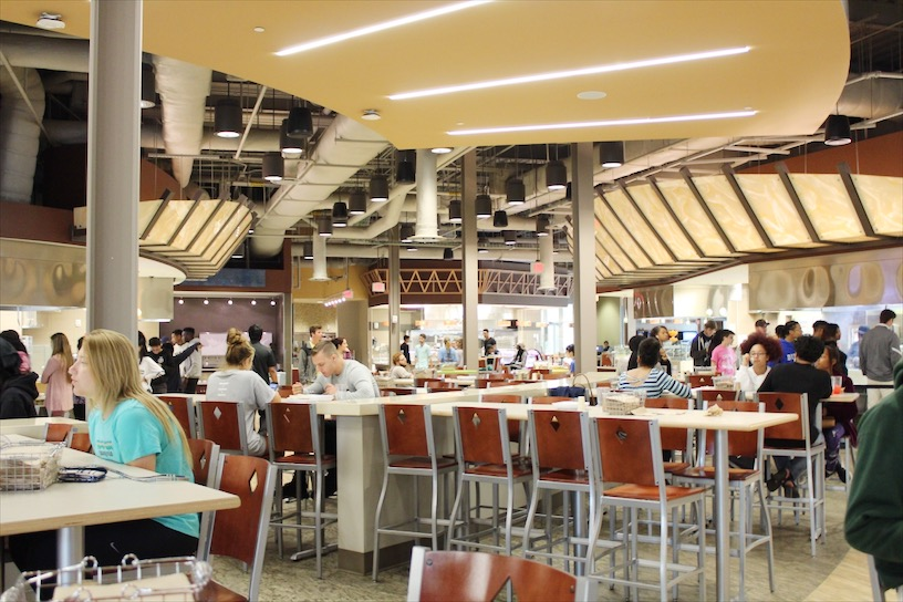 The dining hall at UNC Charlotte