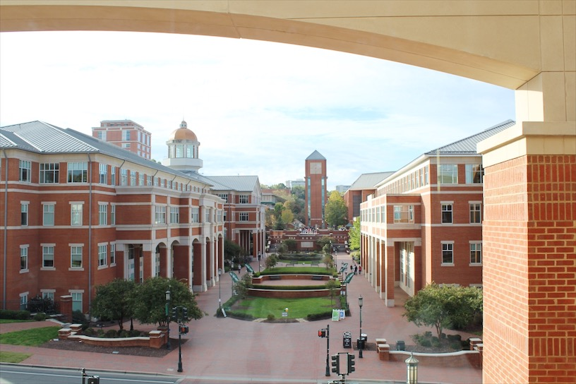 UNC Charlotte from the Student Union