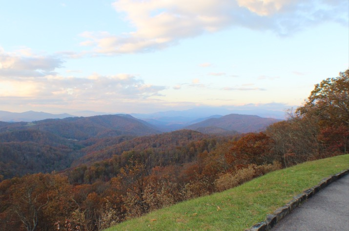 Three Knobs Overlook on the Blue Ridge Parkway