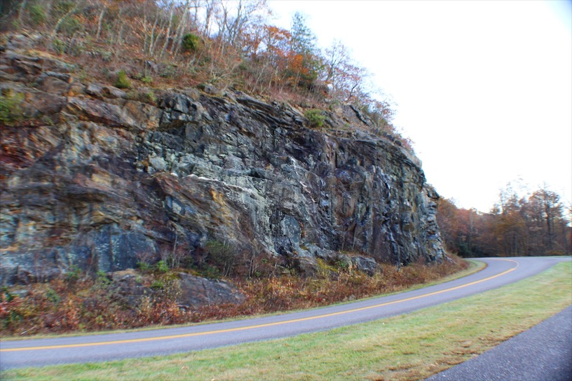 Rock Cut along the Blue Ridge Parkway