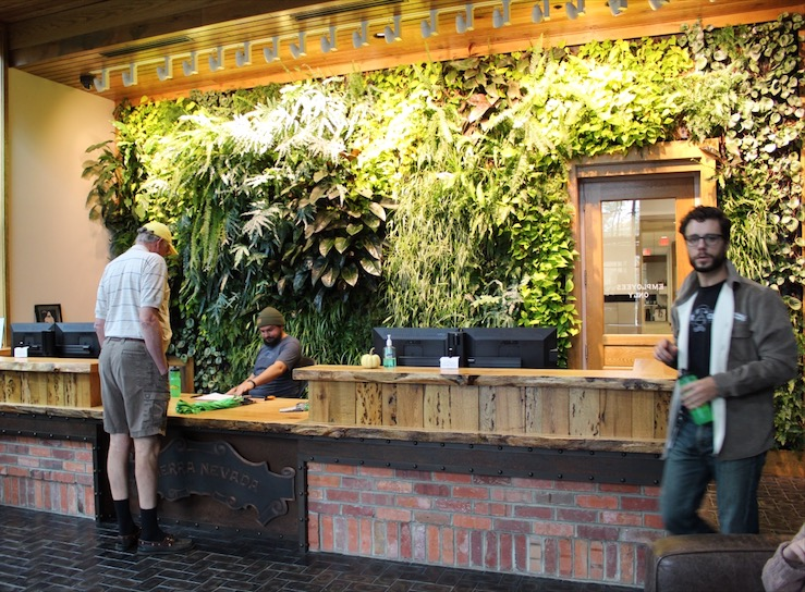 Green Wall at Sierra Nevada Brewery