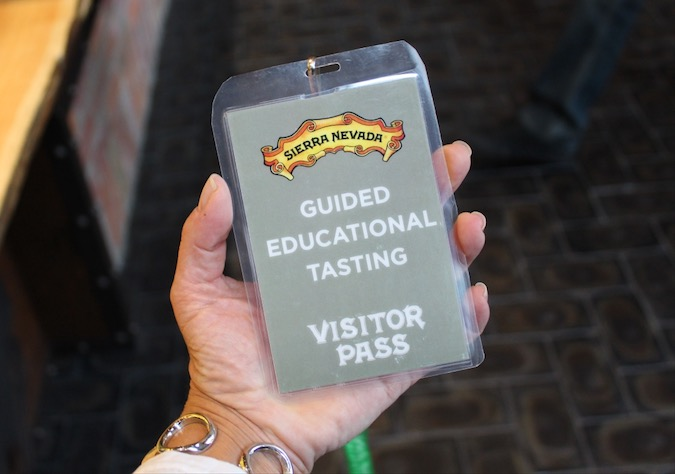 Sierra Nevada Brewery Tasting Tour Pass