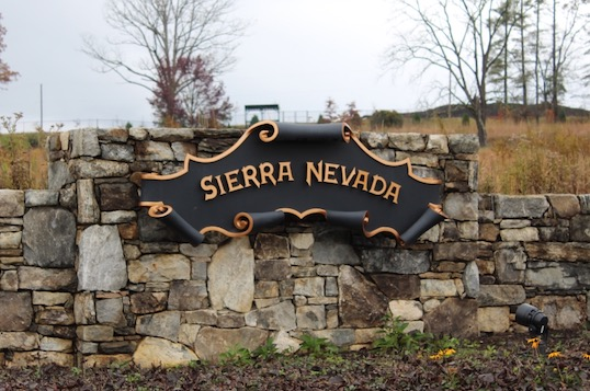 Sierra Nevada Brewery sign at entrance